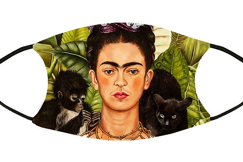 Frida Monkey and Cat Adjustable Filter Face Mask S-M w/4 Filters/ Reusable