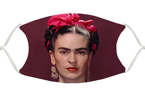 Frida with Pink Bow S-M Adjustable Face Mask