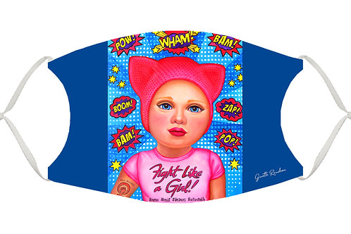Fight Like a Girl! S-M Adjustable Face Mask