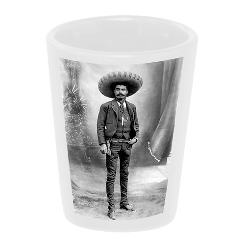 """Zapata Portrait"" Shot Glass"