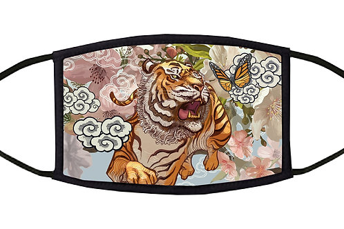 Tiger and Butterfly Adjustable Face Mask