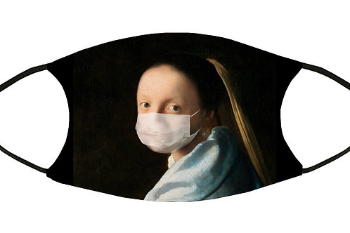 Young Woman Wearing Face Mask/ Adjustable S-M w/4 Filters/ Reusable