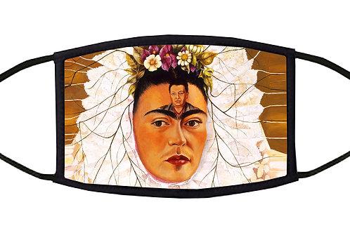 Frida With Diego On Her Mind Adjustable Face Mask
