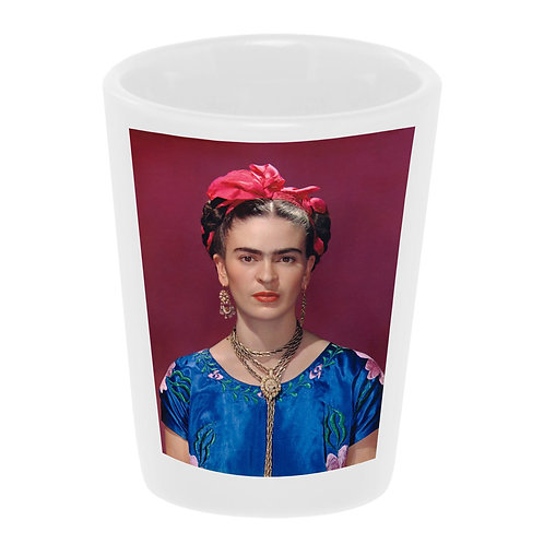 """Frida with Pink Bow"" Shot Glass"