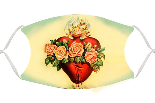 Sacred Heart S-M Adjustable Face Mask
