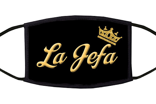 "La Jefa ('the Boss"") Adjustable Face Mask / 3-ply/ Reusable/ Handmade in USA"