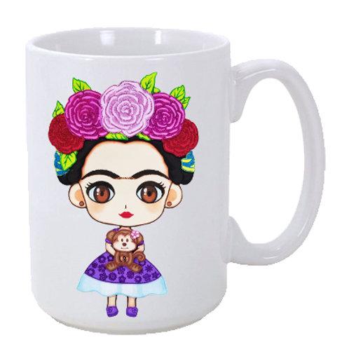 Little Frida Chula 15 oz. Ceramic Olvera Street Mug
