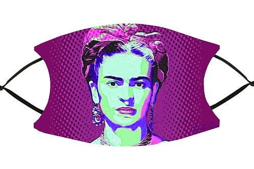 Frida's Pink Pop Art S-M Adjustable Face Mask