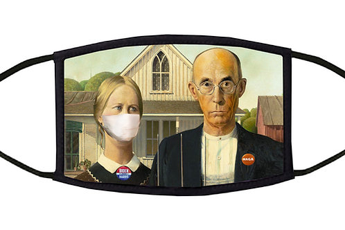 American Gothic Dystopia Adjustable Face Mask