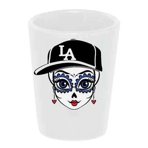 """""""L.A. Friducha"""" Shot Glass"""
