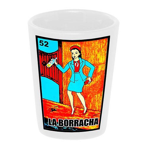 """Loteria: La Borracha"" (the Drunk) Shot Glass"