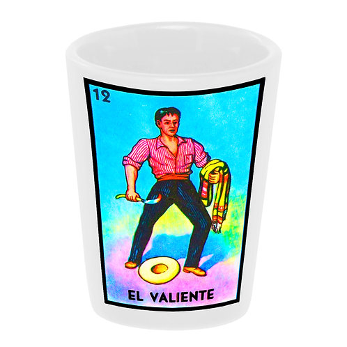 """Loteria: El Valiente"" (the Brave) Shot Glass"