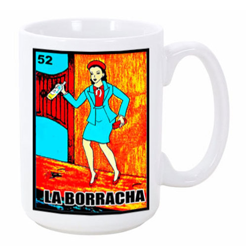 Loteria: La Borracha (the Drunk) Ceramic Mug
