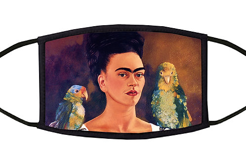 Frida with Parrots Adjustable Face Mask