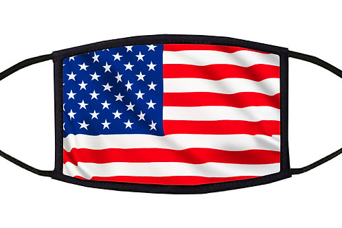 United States Flag Adjustable Face Mask