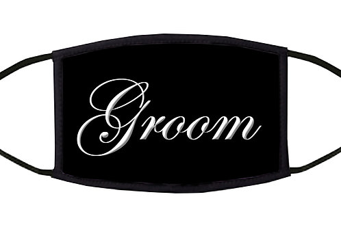 Groom Adjustable Face Mask / 3-ply/ Washable/ Reusable/ Soft/ Handmade in USA