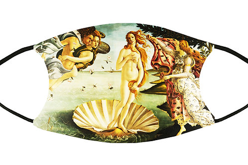 The Birth of Venus (Botticelli) Adjustable Filter Face Mask S-M w/4 Filters