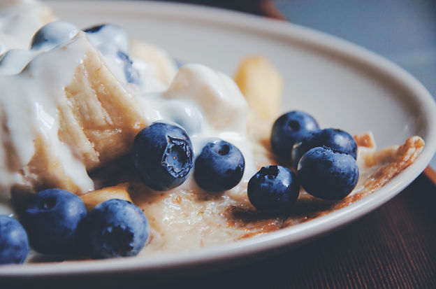 blåbær Crepes