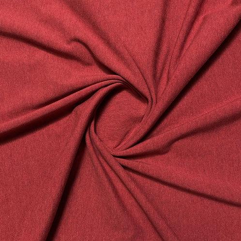 Jersey in burgund meliert, eingedreht