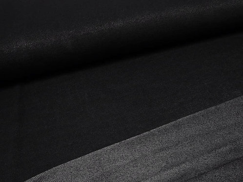 Jersey schwarz Jeans-Look