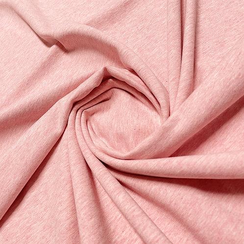melierter Jersey in rosa
