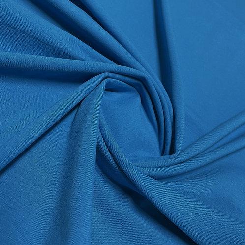 Bio-Jersey in blau, eingedreht
