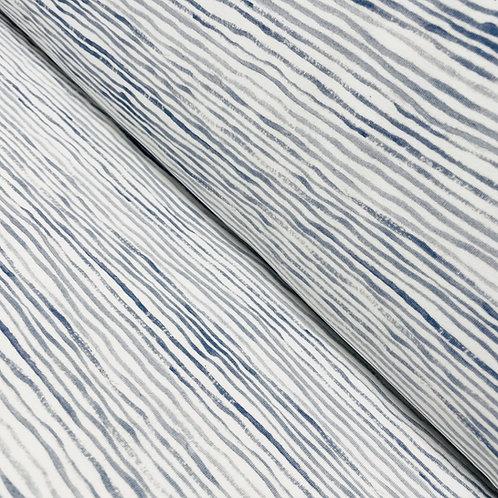 Jersey mit Streifen in magic-blue, auf der Rolle
