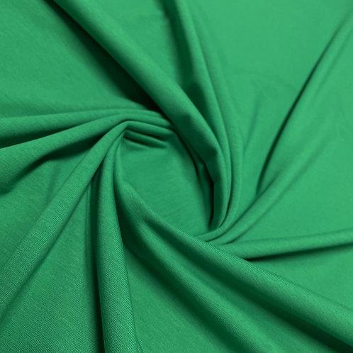 Bio-Jersey in blattgrün, eingedreht