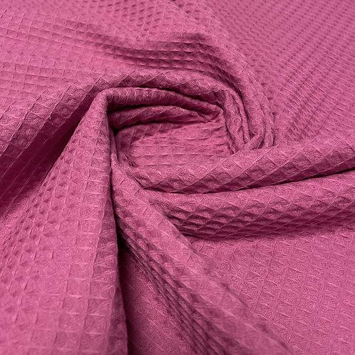 Waffelstoff in purple-pink