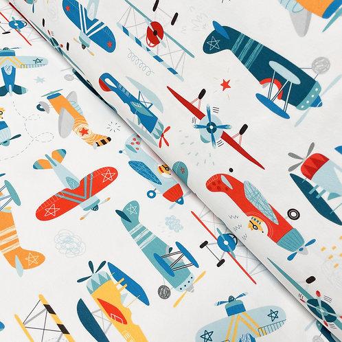 Jersey mit Flugzeugen, auf der Rolle