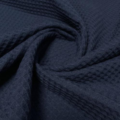 Waffelstoff in jeansblau-dunkel