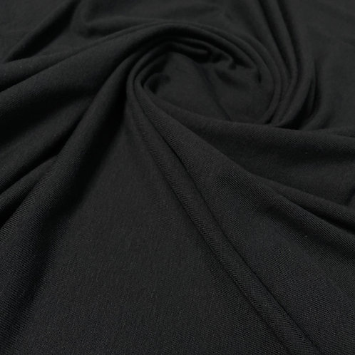 Bambus-Baumwolljersey in schwarz