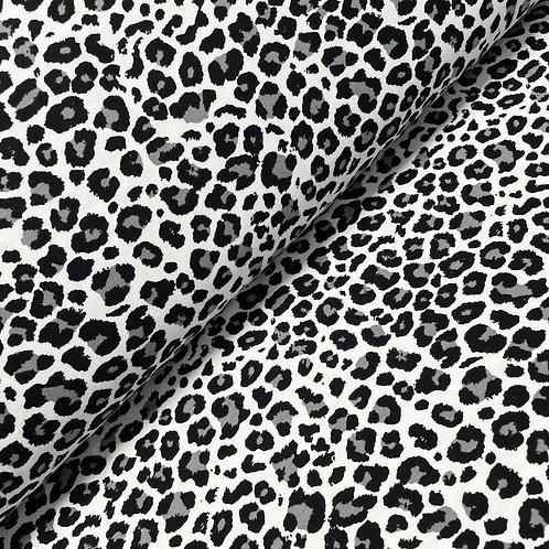 Jersey mit Leopardenmuster in schwarz-weiß-grau
