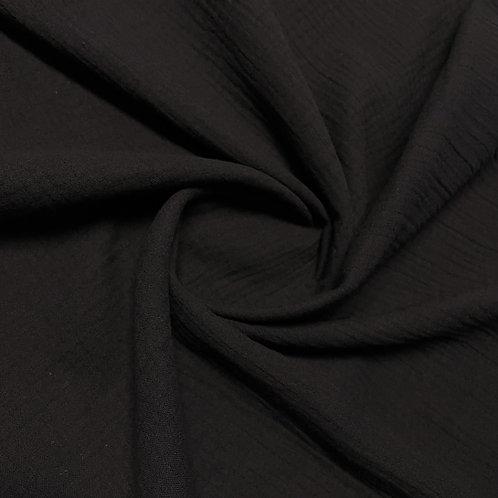 Musselin in schwarz