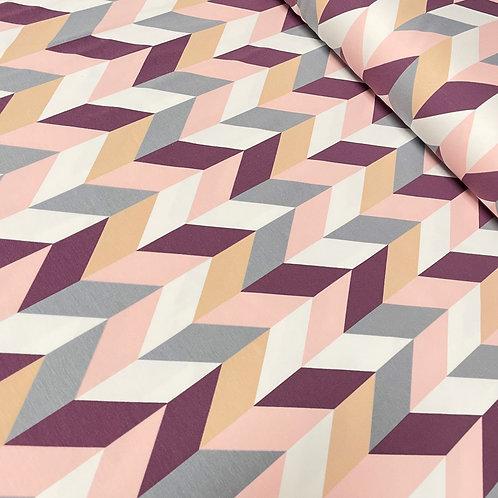 Jersey mit Muster in elfenbein, auf der Rolle