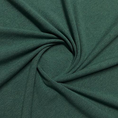 Jersey meliert in dunkelgrün
