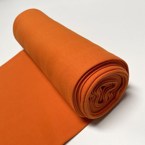 Bio-Bündchenstoff in orange, auf der Rolle