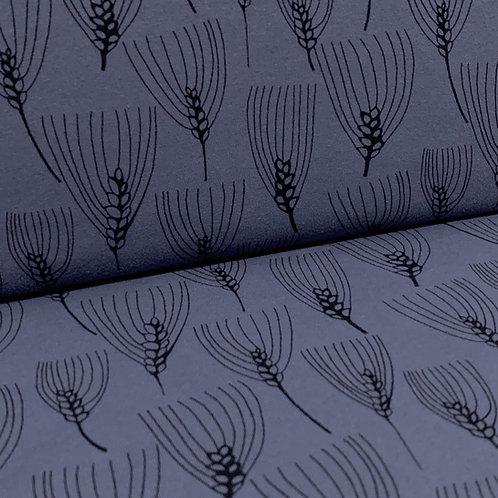Jersey-Stoff dunkelblau mit Gersten