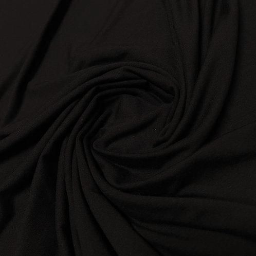 Schwarzer Tencel Modal Jersey