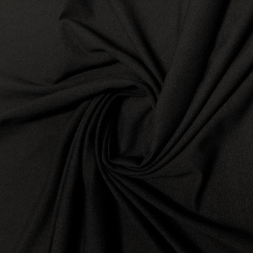 Bio-Jersey-Stoff in schwarz