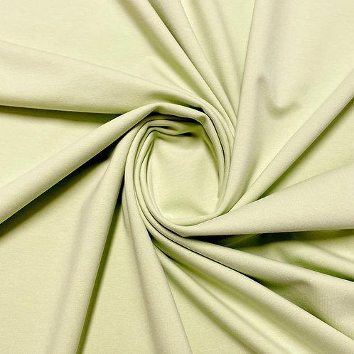 Bio-Jersey in schaumgrün, eingedreht