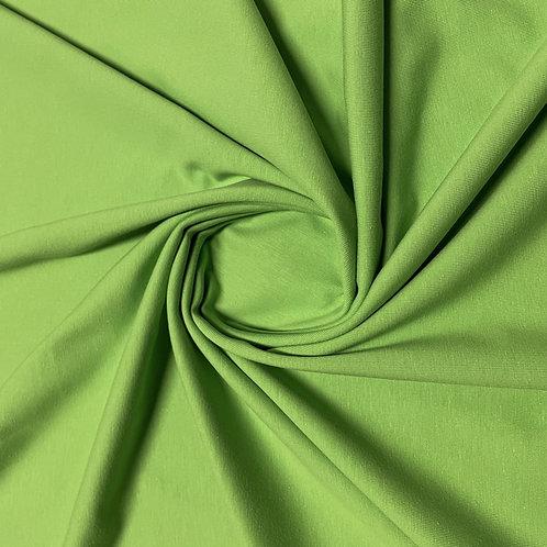 Bio-Jersey in froschgrün, eingedreht