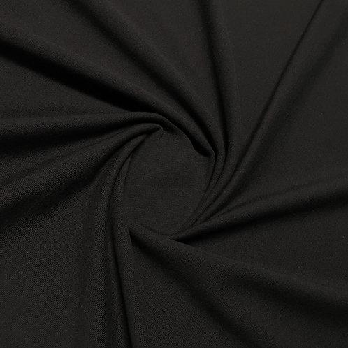 Bio-French-Terry in schwarz