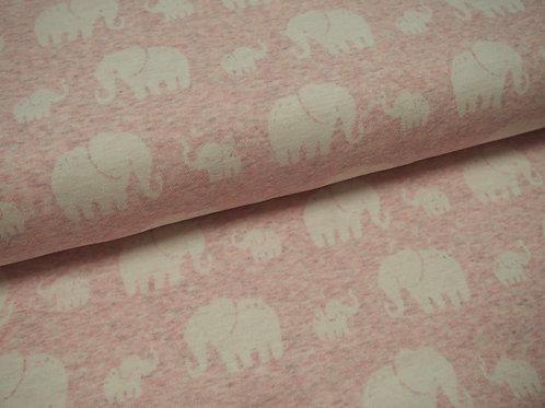 Jacquard Jersey rosa (Elefanten)