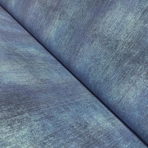 Jeansjersey in hellem indigoblau, auf der Rolle