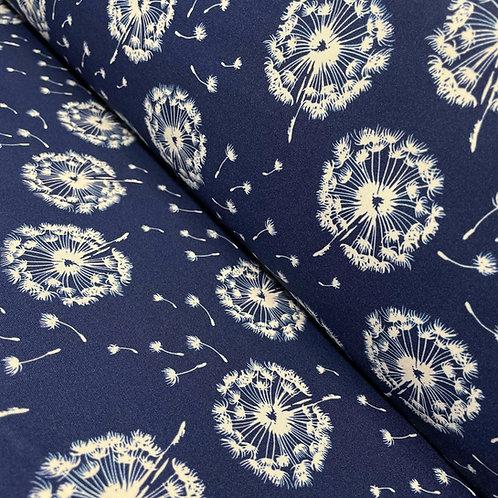 Softshell-Stoff mit Pusteblumen, auf der Rolle