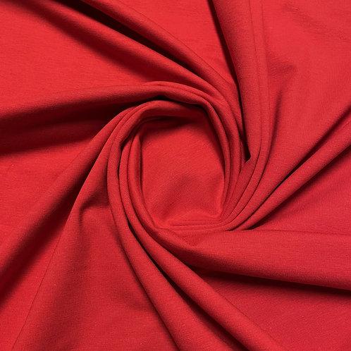 Roter Bio-Jersey in rot, eingedreht