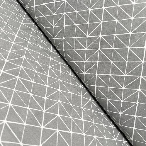Jersey in grau mit Linien-Muster, auf der Rolle