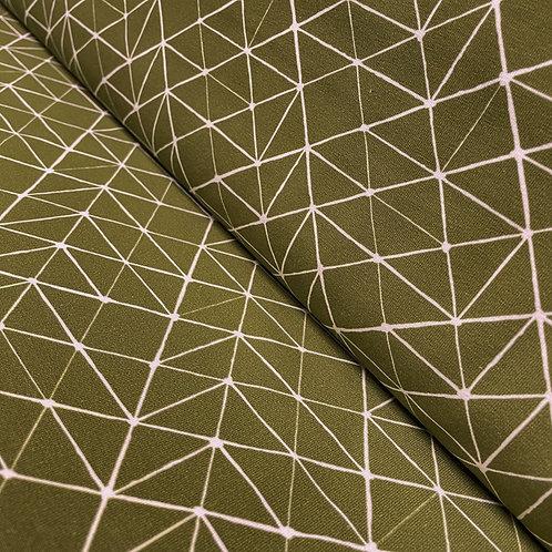 Jersey mit Linienmuster in olivgrün, auf der Rolle