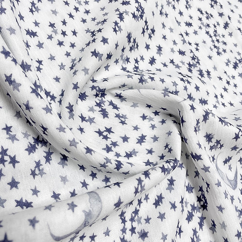 Musselin night dreams blue